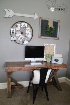 DIY Trestle Desk | Free Plans | rogueengineer.com #DIYtrestledesk #homeofficeDIYplans