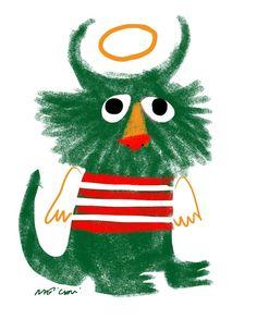 Sendak tribute by Renato Moriconi Monster Illustration, Kawaii Illustration, Book Design Inspiration, Character Inspiration, Cute Monsters, Little Monsters, Spearmint Baby, Nest Design, Project Nursery