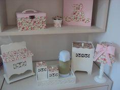 Lindo kit floral vintage!!!! Peças de mdf com alta qualidade na pintura e…