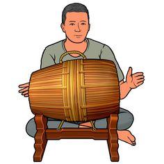 Musical Instruments Clipart, Stitch Drawing, Thai Art, Southeast Asia, Laos, Vietnam, Musicals, Illustration Art, Africa