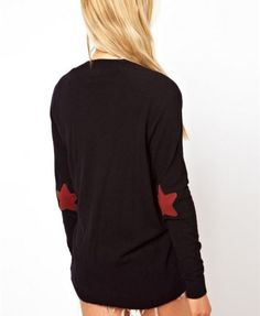 V-Neckline Cardigan with Star Patches - Clothing