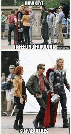 Funny pictures about Jeremy Renner is feeling fabulous. Oh, and cool pics about Jeremy Renner is feeling fabulous. Also, Jeremy Renner is feeling fabulous. Marvel Dc Comics, Marvel Avengers, Avengers Humor, Marvel Jokes, Funny Marvel Memes, Dc Memes, Marvel Actors, Loki Meme, Funny Movie Memes