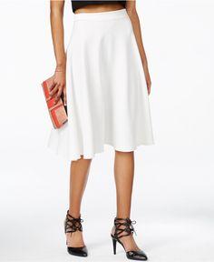 Bar III Ottoman Midi Skirt, Only at Macy's - Skirts - Women - Macy's