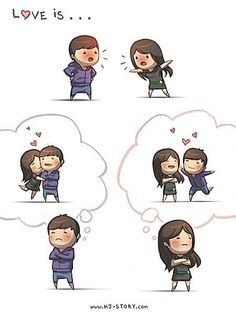 HJ Story - Love is… being stubborn We all fight sometimes. Hj Story, Cute Love Stories, Love Story, Girls In Love, What Is Love, Love Fight, Funny Love Pictures, Couples Comics, Cartoons Love
