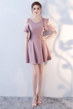 Shop Pretty Mauve Short Homecoming Dress Round Neck with Ruffles online. SheProm offers formal, party, casual & more style dresses to fit your special occasions. Girls Formal Dresses, Short Dresses, All About Fashion, Homecoming Dresses, Wedding Dresses, Blouse Designs, Pretty Dresses, Casual, Ruffles