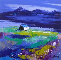 Kevin Fleming - FORTINGALL ART...Summer Twilight, North Uist  .