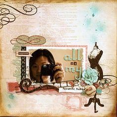 layouts, scrapbooking, my minds eye