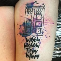 Community Post: 23 Tenth Doctor Who Tattoos That'll Make You Wibbly-Wobbly Dr Who Tattoo, Doctor Who Tattoos, 1 Tattoo, Piercing Tattoo, Fandom Tattoos, Nerdy Tattoos, Sister Tattoos, Tattoos For Guys, Dream Tattoos