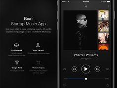 Beat Startup Music App UI Kit by Fatih Ocak