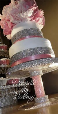 Rhinestone Pedestal Cake Stand Wedding Cakes Bling