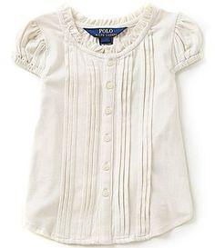 Ralph Lauren Childrenswear Little Girls 2T-6X Pintucked Top