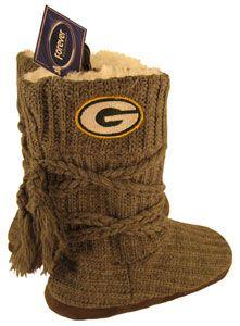 Green Bay Packers G Logo Women's Knit Boots