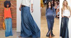 falda jean