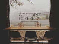 Foggy day at Woodbine Coffee Co in South Nashville.