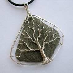 "Wire-wrapped stone - ""Tree of Life"" by Albina Manning"