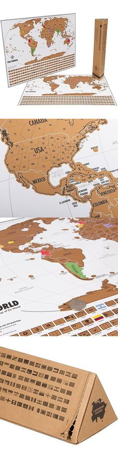 Other travel maps 164807 new world map with scratch off flags other travel maps 164807 new world map with scratch off flags edition tube packaging buy it now only 3393 on ebay pinterest travel maps gumiabroncs Gallery