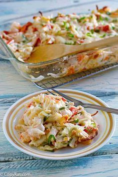 Chinese Buffet Seafood Bake Delight Crab Casserole The best baked crab casserole with lobster and shrimp. It's creamy, cheesy and loaded with seafood flavors. Make Chinese buffet seafood bake delight with this easy copycat recipe and video. Crab Bake, Seafood Bake, Seafood Salad, Crab Dishes, Seafood Dishes, Seafood Buffet, Seafood Restaurant, Restaurant Recipes, Seafood Casserole Recipes
