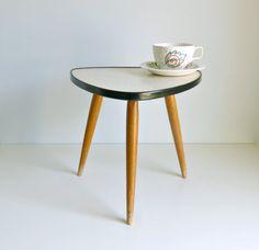 Mid Century Modern Tripod Coffee Table Honey by mungoandmidge