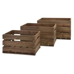 IMAX Ainsley Wood Crates - Set of 3 - 86500-3