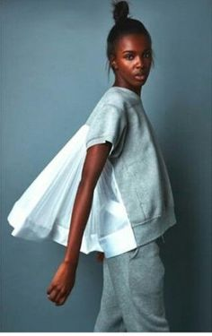 My Nike x Sacai Collection With Model Leomie Anderson - moda Only Fashion, Look Fashion, Fashion Details, Teen Fashion, Runway Fashion, Womens Fashion, Fashion Tips, Fashion Design, Fashion Trends