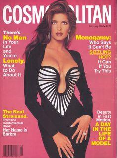Cosmopolitan magazine, FEBRUARY 1994  Model: Stephanie Seymour Photographer: Francesco Scavullo