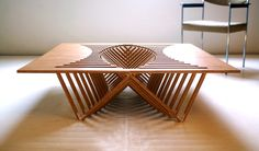 Impressive design for a collapsible table.