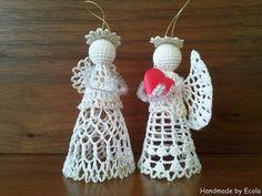 Handmade by Ecola & Dana Art - Aniołki 2015 Beach Cottage Style, Crochet Earrings, Sewing, Handmade, Diy, Christmas Angels, Creative Crafts, Creativity, Dressmaking