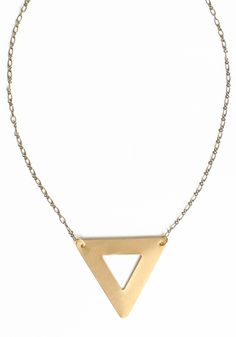 Cutout Triangle Necklace By St. Eve 19.00 at threadsence.com