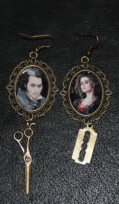 Sweeney Todd and Mrs Lovett bronze tone cameo by eyescream4u2
