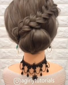 Easy Hairstyles For Long Hair, Braids For Long Hair, Up Hairstyles, Pretty Hairstyles, Braided Hairstyles, Medium Hair Updo, Easy Wedding Hairstyles, Simple Hairstyles For Medium Hair, Short Hair