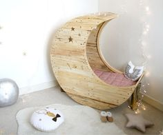 If not a crib, wouldn't this make a cozy corner kids rocking chair to hide away w a book!