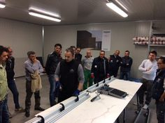 Italian fitters are trained on the use of #COVERLAM in the new #training room of #Grespania's subsidiary in Italy.  More and more professionals want COVERLAM for their projects and are interested in learning the technique for a perfect result!