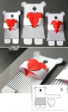 Открытка своими руками -  подарок на День Святого Валентина #подарки #декор