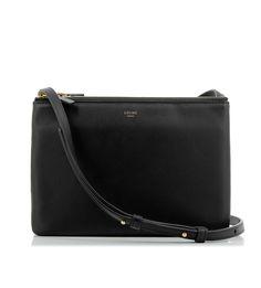 celine ecru leather handbag trio
