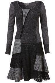 Dark Grey Edwardian Patchwork Tunic Dress