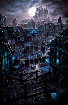 a collection of inspiration for settings, npcs, and pcs for my sci-fi and fantasy rpg games. hopefully you can find a little inspiration here, too. Fantasy City, Fantasy Places, Fantasy Kunst, Fantasy World, Fantasy Village, High Fantasy, Dark Fantasy Art, Fantasy Rpg, Fantasy Artwork