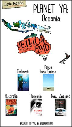 Read your way across the globe with our PLANET YA maps!   Today's stop: OCEANIA!
