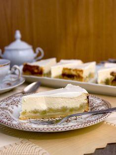 Rebarborový tvarohový cheesecake | Pečení a vaření | Bloglovin' Cheesecakes, Feta, Camembert Cheese, Dairy, Recipes, Queen, Recipies, Cheesecake, Ripped Recipes