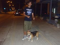 Me and dad on our night walk.