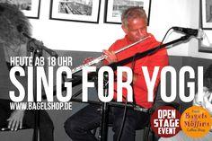 Du bist leider viel zu früh von uns gegangen. Die heutige #OpenStage ist Dir lieber Yogi Jörg Hinrichsmeyer gewidmet.  #SingforYogi heute ab 18 Uhr im #bagelshop  www.bagelshop.de