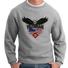 Show your 45th Infantry Brigade w/Eagle Crewneck Sweatshirt pride and stay warm with this great-looking and ultra-comfortable crewneck sweatshirt available exclusively from VetFriends. This classic fit 10oz 100% Spun Polyester Fleece sweatshirt features banded sleeves and bottom hem. Designed, Printed & Sublimated in the USA -Fabric imported.