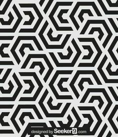 Repeating geometric tiles with hexagonal