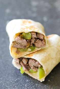 Philly Cheese Steak Wraps (1 of 2)