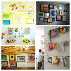 DIY ideas for creating a children's art gallery
