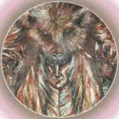 Bear spirit from North American native culture