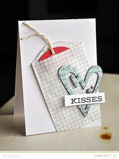 Kisses Card {Studio Calico January Kit}