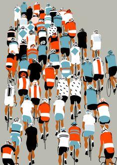 Peloton #grafica #illustrazione #bici