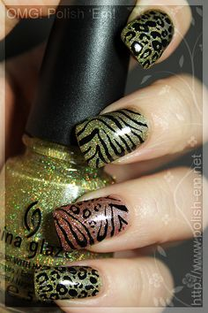 I love China Glaze brand nail polish. This is fun with the animal print on top (not sure how they did that...)