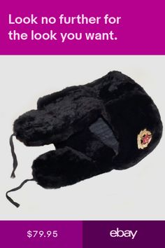 e24b816d3c7c3 Russian Winter Hat Ushanka With Soviet Army Badge. Free Shipping in ...