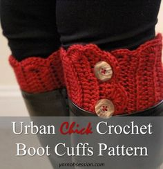 Looking for an easy project? These Boot Cuffs are stylish and easy enough for the beginner to make: #free #crochet #pattern by wendy blye